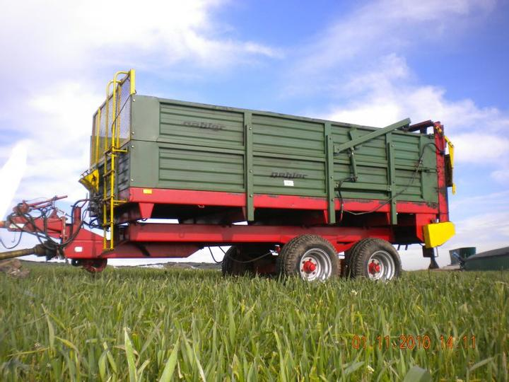 A used manure spreader.